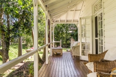 This is the stuff that verandah dreams of made of!  The french doors that lead onto the wide deck and the view into the garden - sublime.  Source: www.realestate.com.au