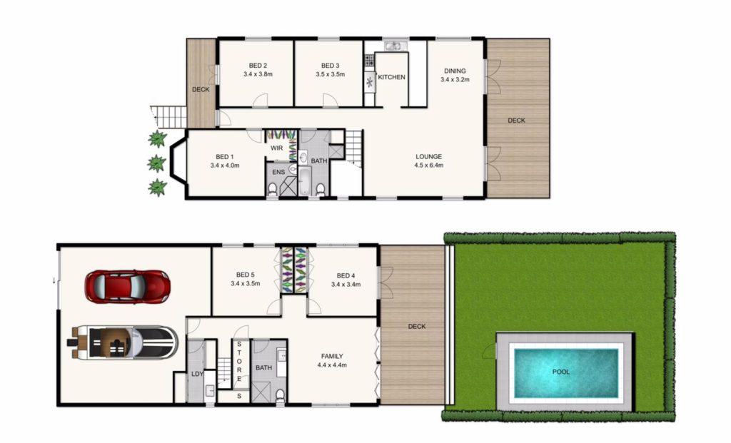 floor plan humble Queenslander