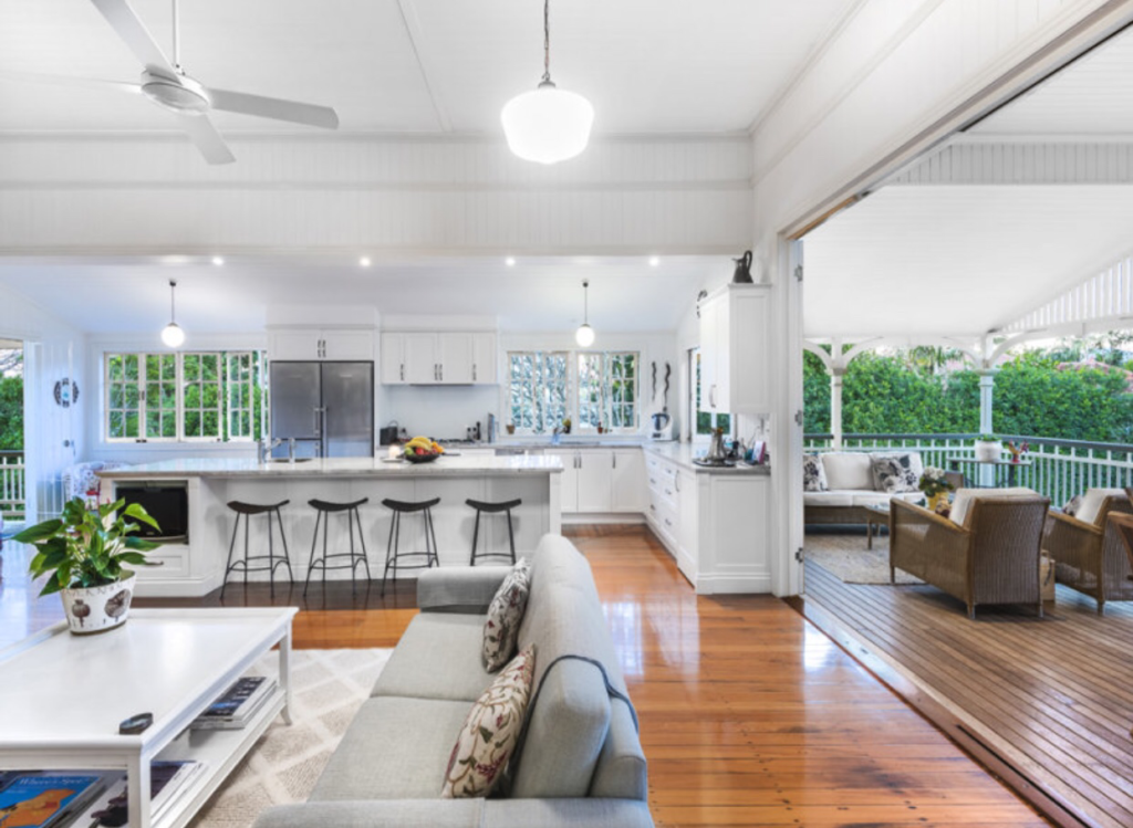 Ascot Queenslander open plan