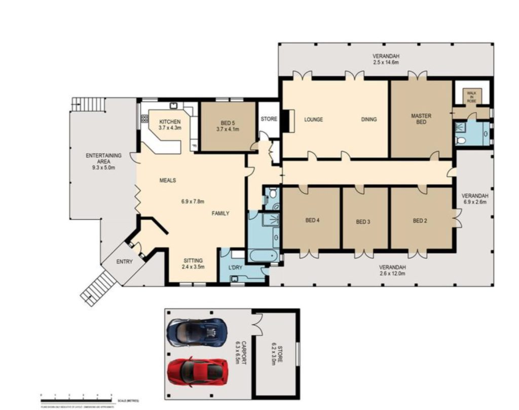 Landmark Chelmer Queenslander Circa 1905 floor plan