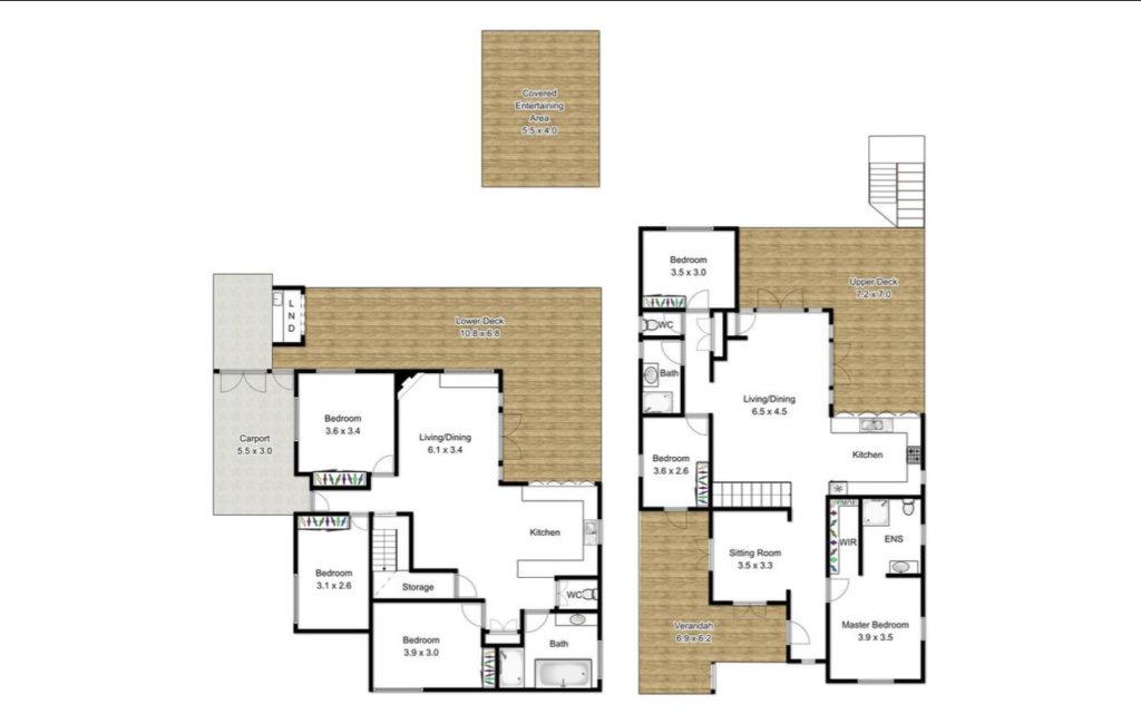 Character Ashgrove Queenslander floor plan