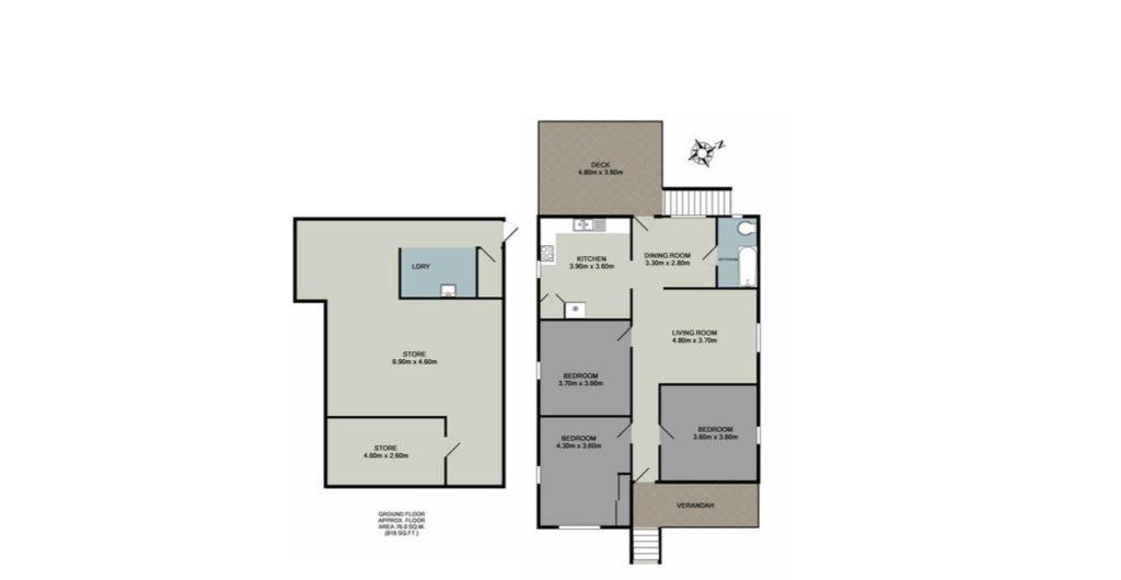 Cottage Garden Bulimba Queenslander floor plan