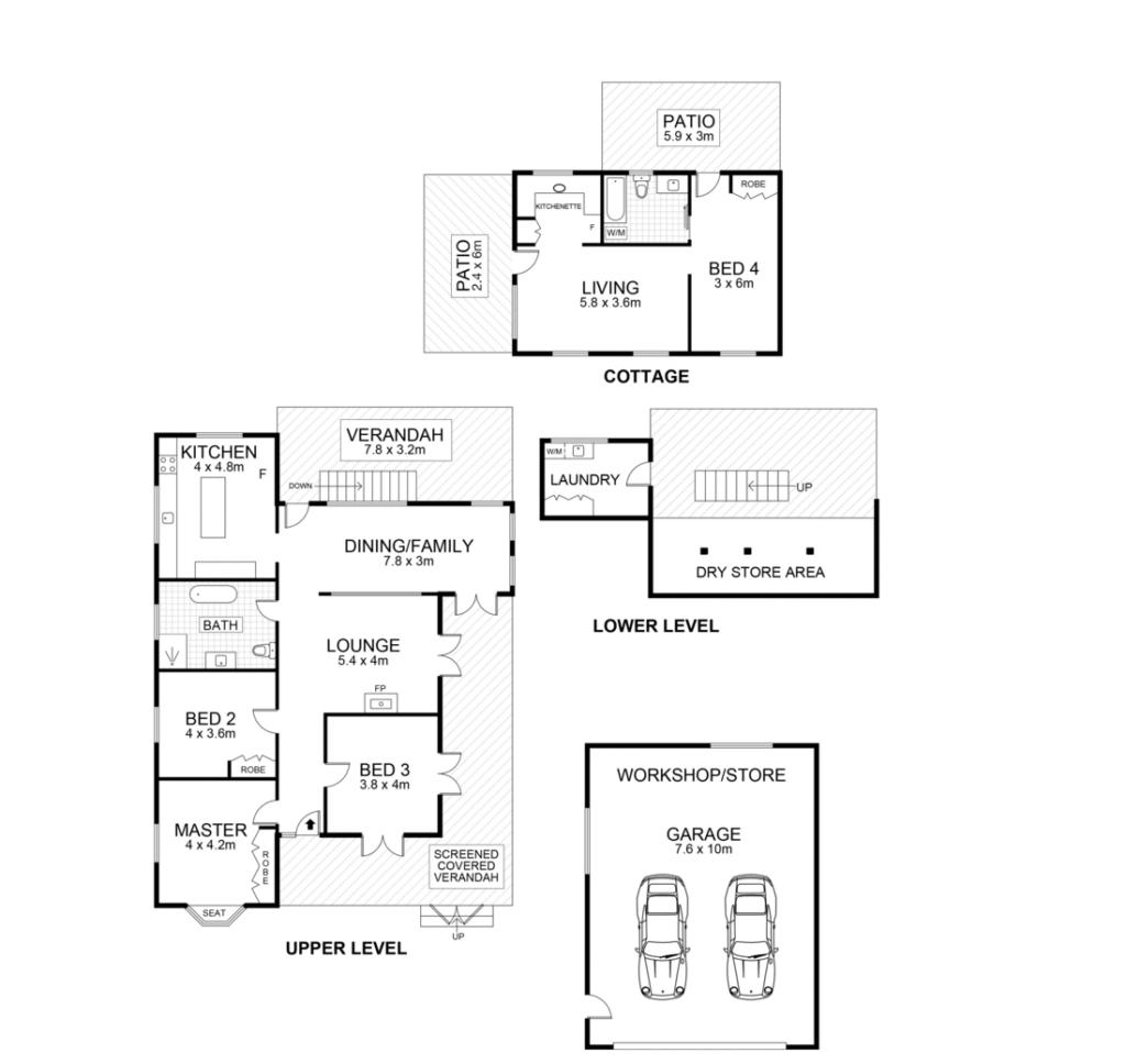 My Dream Queenslander in Maleny floor plan