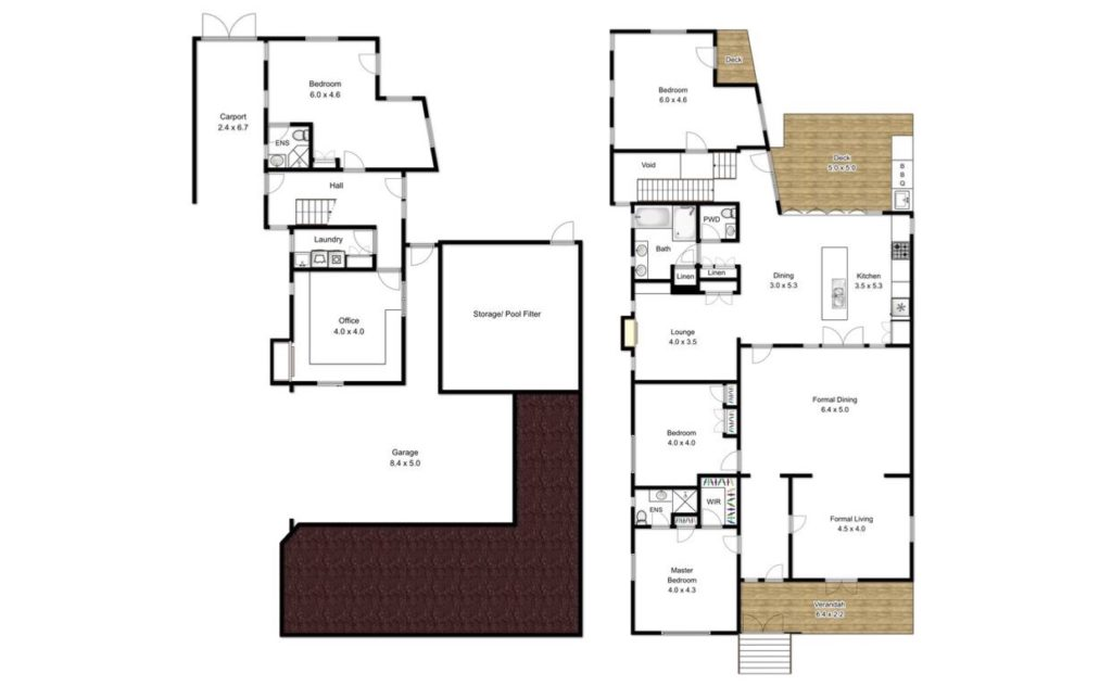 Queenslander Clayfield floor plan